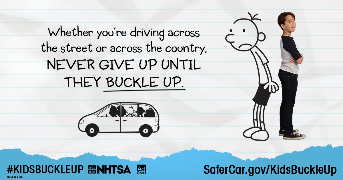 Never Give Up Until They Buckle Up #KidsBuckleUp
