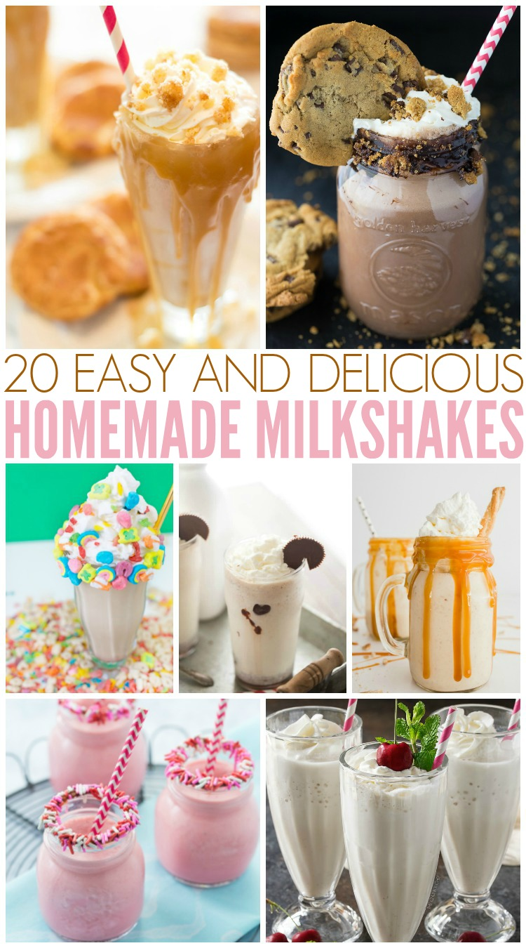 20 Easy & Delicious Homemade Milkshakes