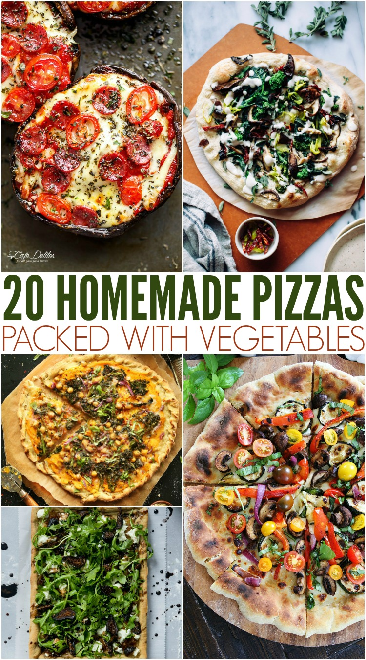20 Homemade Pizzas Packed With Vegetables