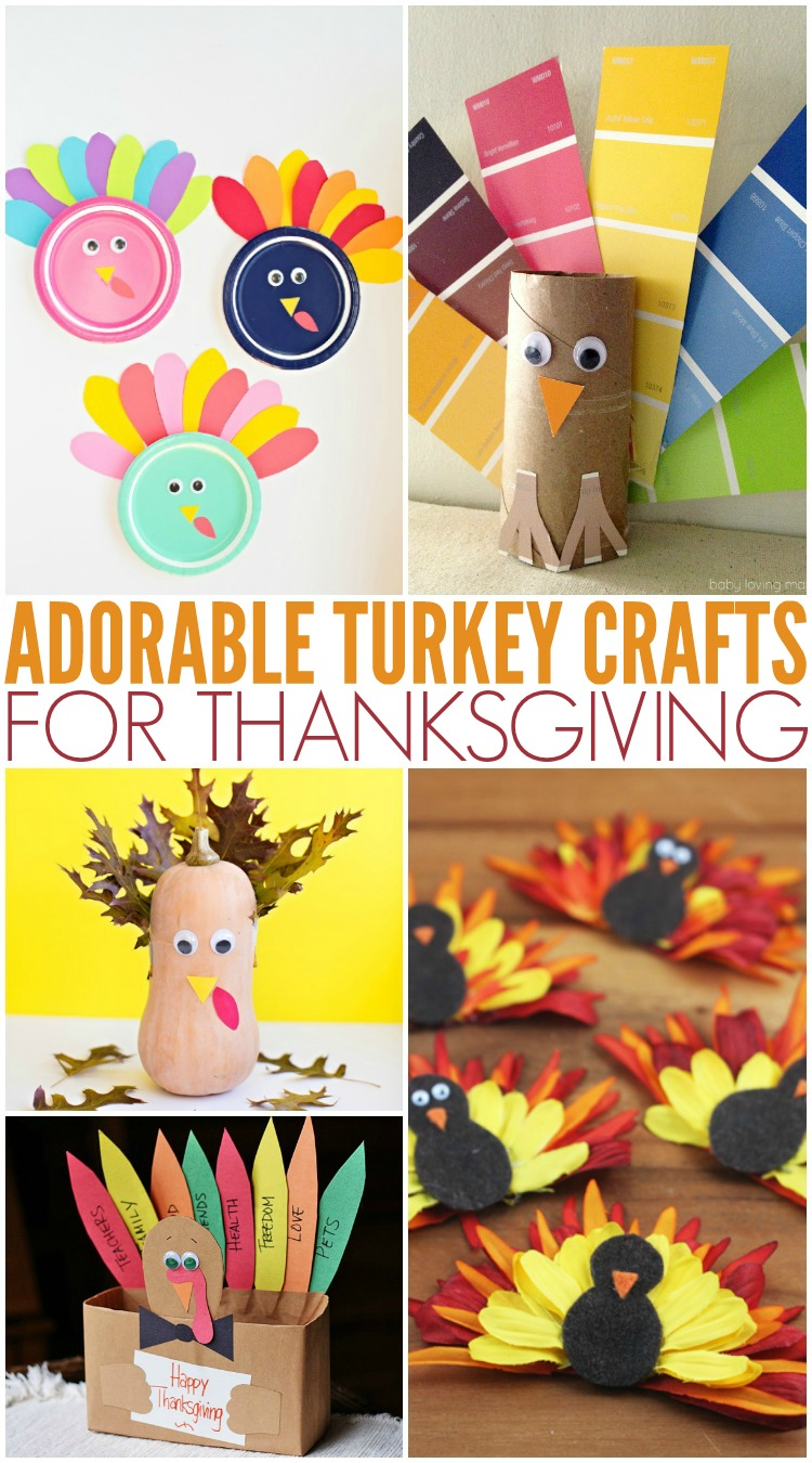 Adorable Turkey Crafts For Thanksgiving
