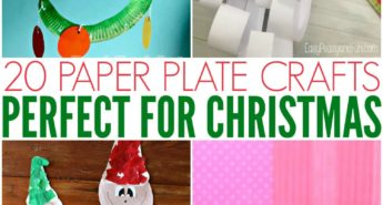 20 Paper Plate Crafts For Christmas