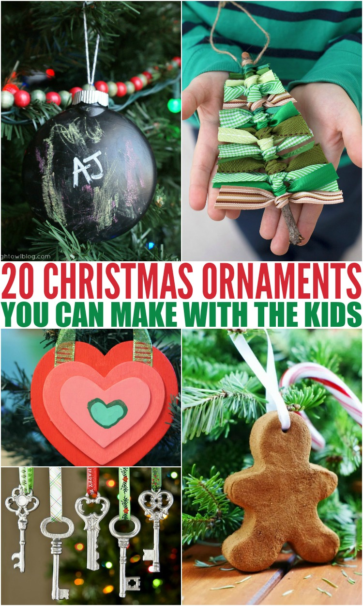 20 Christmas Ornaments You Can Make With The Kids