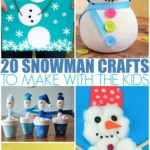 20 Snowman Crafts To Make With The Kids