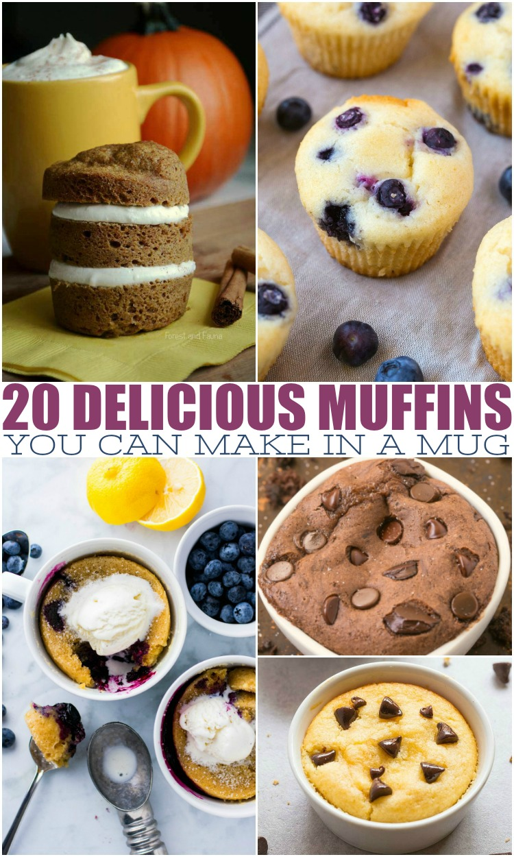 20 Delicious Muffins You Can Make In A Mug