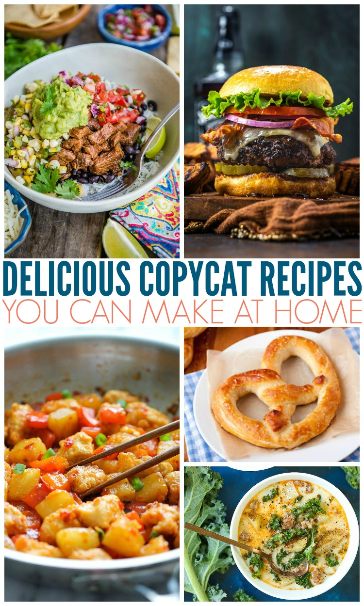 Delicious Copycat Recipes You Can Make At Home