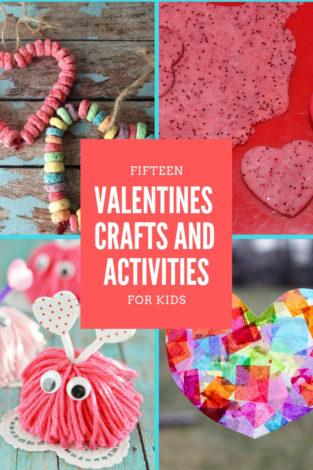 A list of 15 fun, love-inspired Valentines crafts and activities to do with your kids this month.