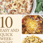 Take a look at this list of 10 quick and easy weeknight dinners that can be prepared quickly for those nights when you are in a rush.