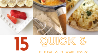Check out these 15 quick and healthy breakfast recipes that are easy to make ahead, prepare quickly, or eat on-the-go for busy mornings!