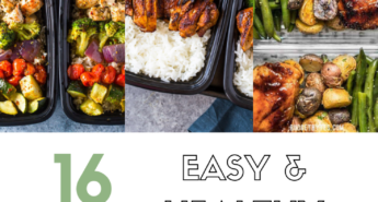These easy and healthy meal prep recipes will help you plan ahead and be prepared with healthy lunches and dinners that you can eat all week!