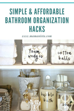 If your bathroom is in a constant state of disarray, check out these bathroom organization hacks that are simple and affordable.