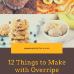 If you struggle with produce ripening quicker than your family van eat it, here are 12 things to make with overripe bananas.