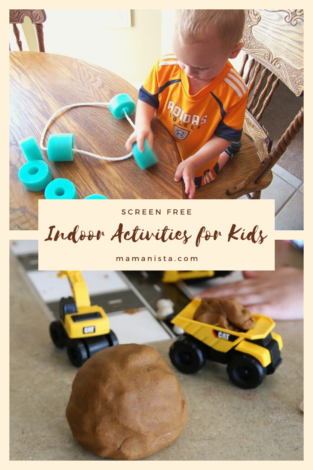 We've got ten screen free indoor activities for kids of all different ages for you to check out during these colder months!