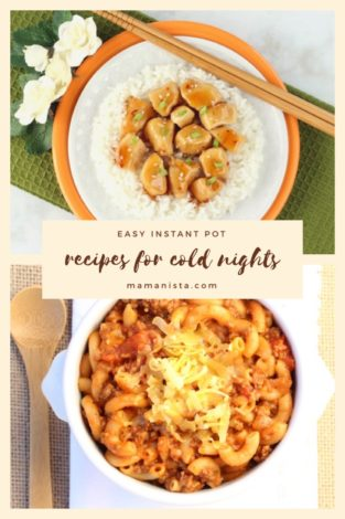 Searching for quick dinners for cold nights? Easy Instant Pot Recipes for Cold Nights will have you and your family enjoying plenty of delicious meals!