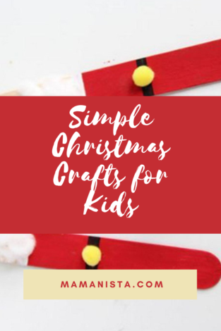Looking for some simple Christmas crafts to do with your kids that don't involve a million steps or multiple trips to the craft store for supplies?