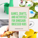 If your kid who is dinosaur-obsessed, check out these games, crafts, and activities for all things dinosaur! The best part is they will learn through play!