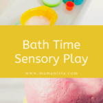If you are looking for fun, sensory activities to entertain your toddler, check out these ideas for bath time sensory play!