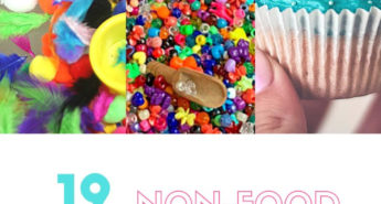 We have put together a list of 12 non-food sensory bins that can be reused over and over!